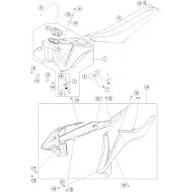 Réservoir, Selle, Cache réservoir ( KTM 65 SX 2019 )