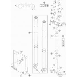 Fourche avant, Té de fourche ( KTM 85 SX-19-16 2019 )