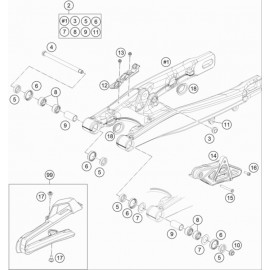 Bras oscillant ( KTM 85 SX-19-16 2019 )