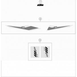 Décos, adhésif ( KTM 125 SX 2019 )