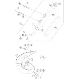 Echappement ( KTM 250 SX 2019 )