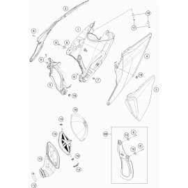 Filtre à air ( KTM 250 SX 2019 )