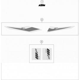 Décos, adhésif ( KTM 150 SX 2019 )