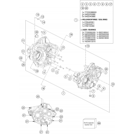 Carter moteur ( KTM 250 SX-F 2019 )