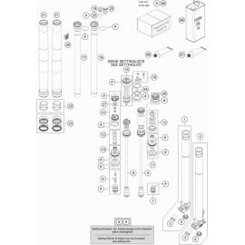 Fourche avant éclatée ( KTM 350 SX-F 2019 )