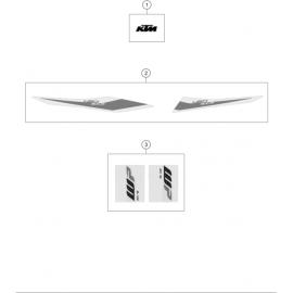 Décos, adhésif ( KTM 450 SX-F 2019 )
