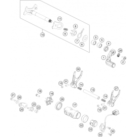 Mécanisme Chgt vitesse ( KTM 450 SX-F Herlings 2019 )