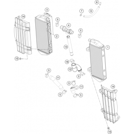Refroidissement ( KTM 450 SX-F Herlings 2019 )
