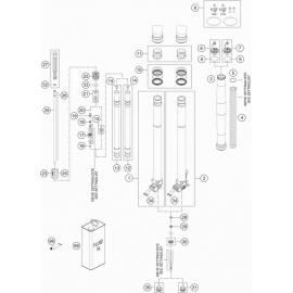 Fourche avant éclatée ( KTM 125 XC-W 2019 )