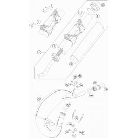 Echappement ( KTM 125 XC-W 2019 )