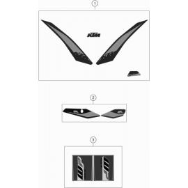Décos, adhésif ( KTM 125 XC-W 2019 )