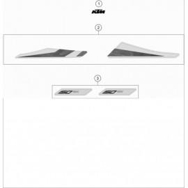 Décos, adhésif ( KTM 150 SX 2020 )