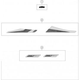 Décos, adhésif ( KTM 250 SX-F 2020 )