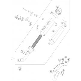 Echappement ( KTM 350 SX-F 2020 )