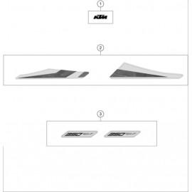 Décos, adhésif ( KTM 350 SX-F 2020 )