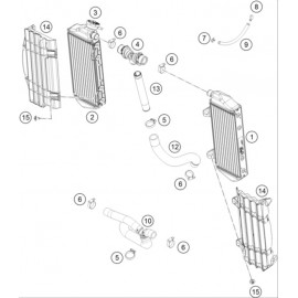 Refroidissement ( KTM 350 SX-F 2020 )