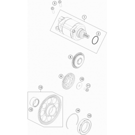 Démarreur électrique ( KTM 350 SX-F 2020 )
