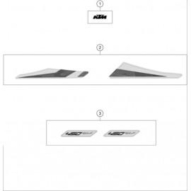 Décos, adhésif ( KTM 450 SX-F 2020 )