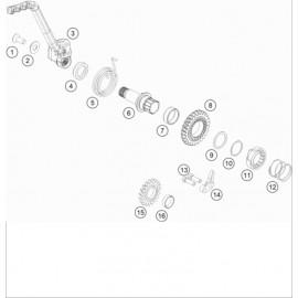Kick de démarrage ( KTM 85 SX-19-16 2020 )