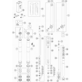 Fourche avant éclatée ( KTM 85 SX-17-14 2020 )