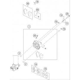 Etrier de frein avant ( KTM 85 SX-17-14 2020 )
