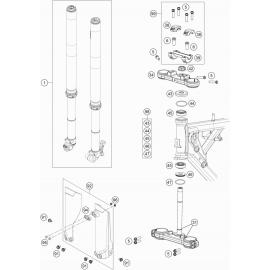 Fourche avant, Té de fourche ( KTM 65 SX 2020 )