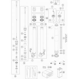 Fourche avant éclatée ( KTM 65 SX 2020 )