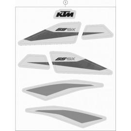 Décos, adhésif ( KTM 65 SX 2020 )