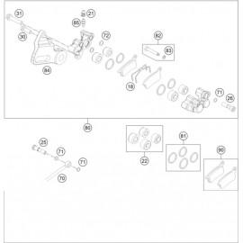 Etrier de frein arrière ( KTM 65 SX 2020 )