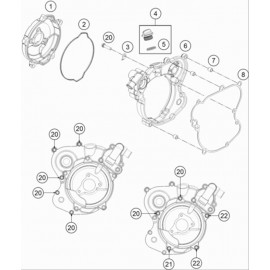 Carter d'embrayage ( KTM 65 SX 2020 )