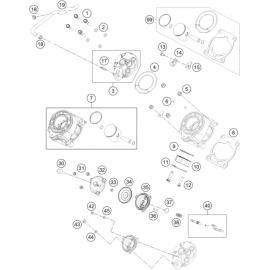 Cylindre, culasse ( KTM 65 SX 2020 )