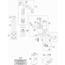 Amortisseur arrière éclaté ( KTM 50 SX 2020 )