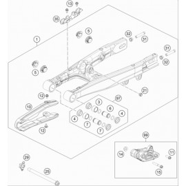 Bras oscillant ( KTM 50 SX 2020 )