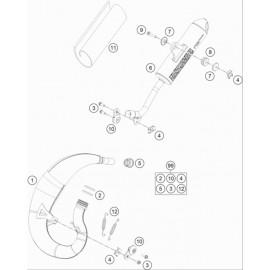 Echappement ( KTM 50 SX 2020 )