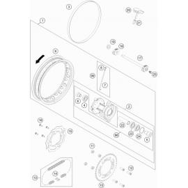Roue arrière ( KTM 50 SX 2020 )
