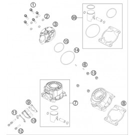 Cylindre, culasse ( KTM 50 SX 2020 )