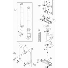 Fourche avant, Té de fourche ( KTM 50 SX-MINI 2020 )