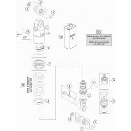 Amortisseur arrière éclaté ( KTM 50 SX-MINI 2020 )