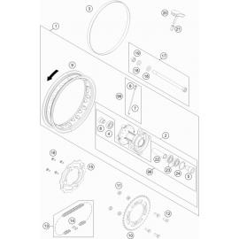 Roue arrière ( KTM 50 SX-MINI 2020 )