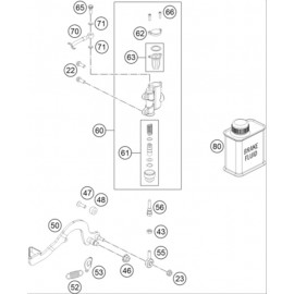 Commande de frein arrière ( KTM 50 SX-MINI 2020 )