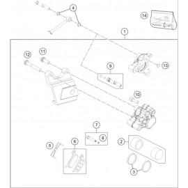 Etrier de frein arrière ( KTM 50 SX-MINI 2020 )