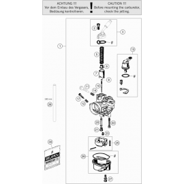 Carburateur ( KTM 50 SX-MINI 2020 )