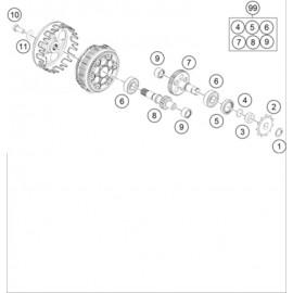 Boite de vitesse ( KTM 50 SX-MINI 2020 )