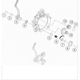 Kick de démarrage ( KTM 50 SX-MINI 2020 )