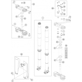 Fourche avant, Té de fourche ( KTM 250 SX-F-PRADO 2020 )