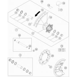 Roue avant ( KTM 250 SX-F-PRADO 2020 )