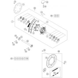 Roue arrière ( KTM 250 SX-F-PRADO 2020 )