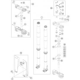 Fourche avant, Té de fourche ( KTM 450 SX-F-CAIROLI 2020 )