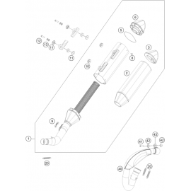 Echappement ( KTM 450 SX-F-CAIROLI 2020 )