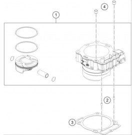 Cylindre ( KTM 450 SX-F-CAIROLI 2020 )